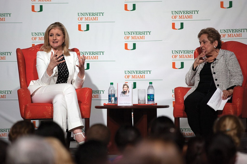Huffington talks new book, success tips