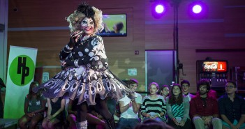 "Junior Armando Hernandez performs under the drag name ""Aurora Borealis"" during SpectrUM's DragOut 2014 drag show held at the Rat on Wednesday night. Nick Gangemi // Assistant Photo Editor"