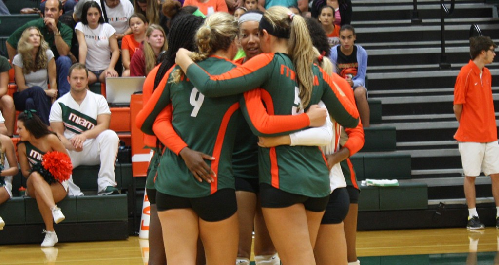 Canes volleyball prevails 3-2 over Virginia Tech Hokies