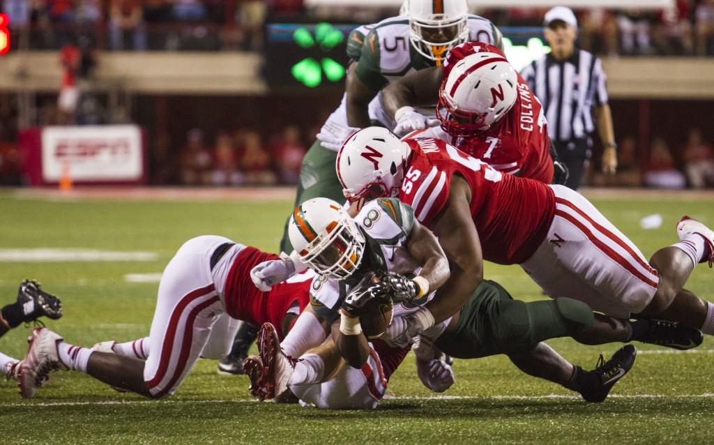 Miami defensive line falls flat against Nebraska