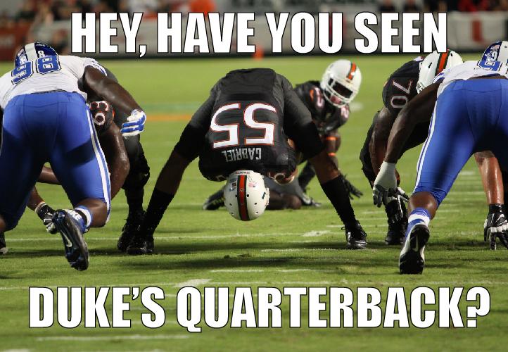 Danny's Meme Den: Miami-Duke Game