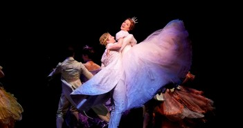 "Paige Faure, Andy Jones and the Cinderella Broadway company perform the number ""Ten Minutes Ago."" Photo by Carol Rosegg"
