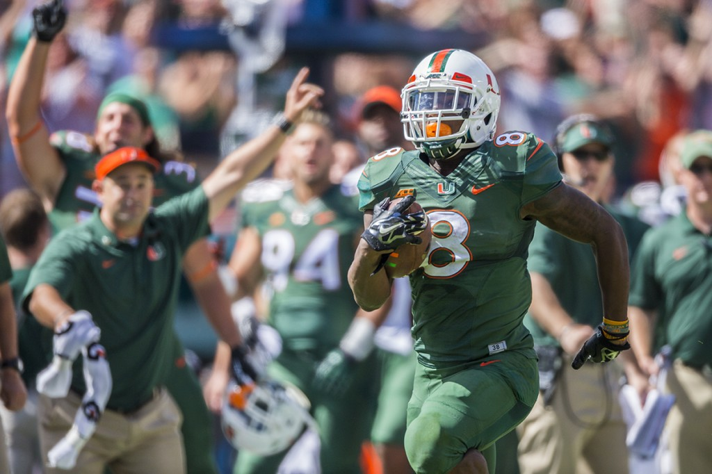 Canes offense rams through Tar Heels