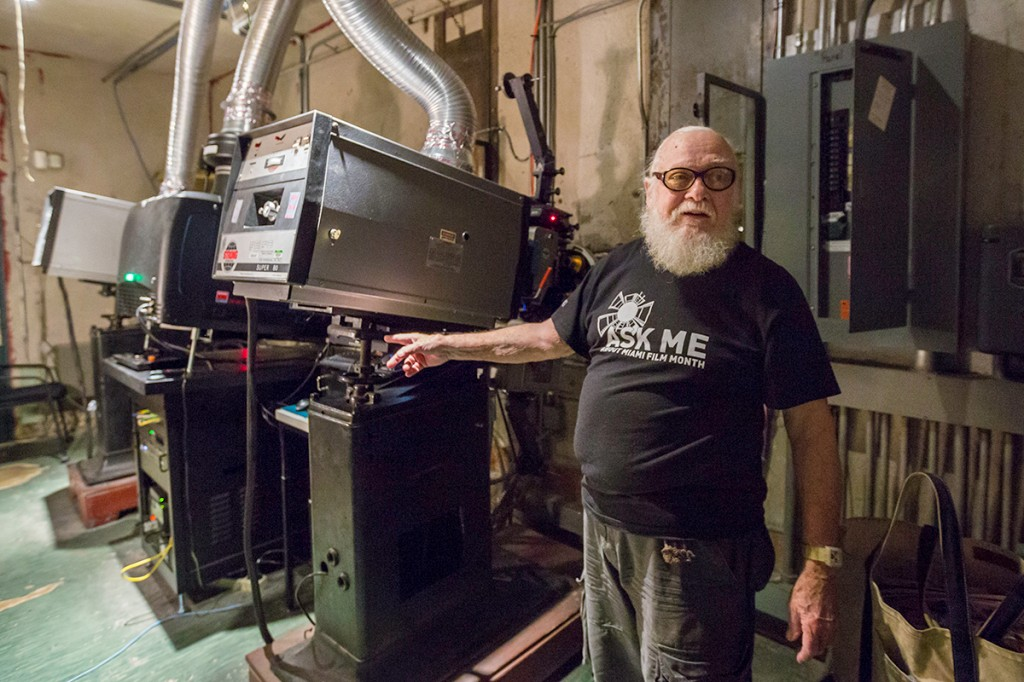Projectionist loves 'crazy little job' at Cosford Cinema