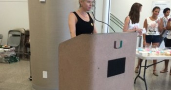 Prof. Westaway speaks at Canes Consent event Thursday.