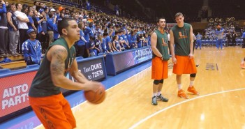 Junior guard Angel Rodriguez practices before the game. Photo by AJ Ricketts // Online Sports Editor