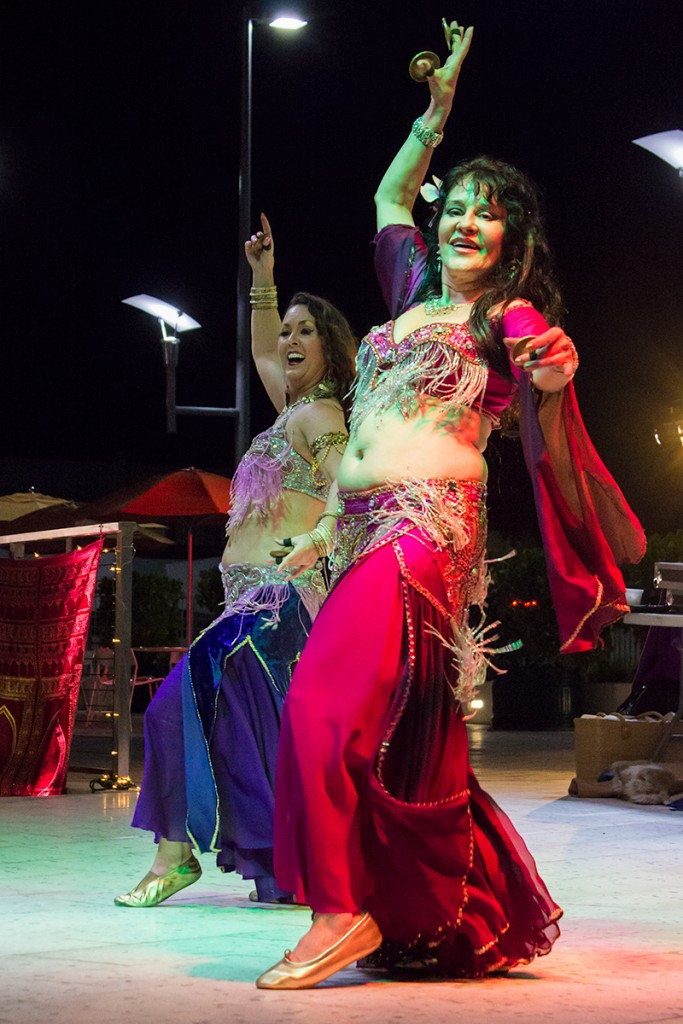 "Belly dancers perform during Friday night's ""A Whole New World"" Canes After Dark event held on the SAC Patio. Giancarlo Falconi // Staff Photographer"