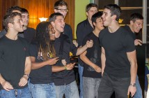 The a cappella group Above The Keys performs their International Championship of Collegiate A Cappella (ICCA) set to attendees at the UM Wesley Foundation Building Thursday night. Above The Keys performed the set Saturday at the ICCA south quarterfinal competition in Orlando. Giancarlo Falconi // Staff Photographer