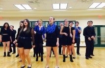 Biscaydence rehearses Tuesday night for the ICCA regional competition held in Orlando on Saturday. Lyssa Goldberg // Online Editor