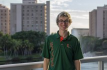 Sophomore Tyler Felts is the chair of QuantUM Entertainment (QE), the University of Miami's student-run theatre production program. As a screenwriting and theatre arts major, Felts also founded the UM chapter of Delta Kappa Alpha (DKA), a cinematic arts-focused fraternity, and serves as the scholarship chair and the showrunner chair. Victoria McKaba // Staff Photographer