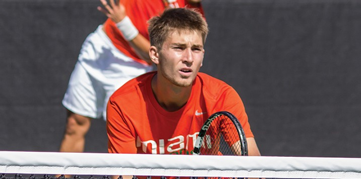 Miami sophomores play in two tournaments, Cane represents Poland in doubles final