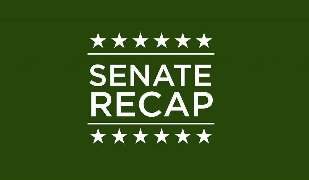 Senate Recap: Selfie with your Senator, cigarette butt collection