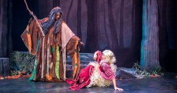 Tituss Burgess as The Witch and Marina Pires as Rapunzel // Photo Courtesy Justin Namon