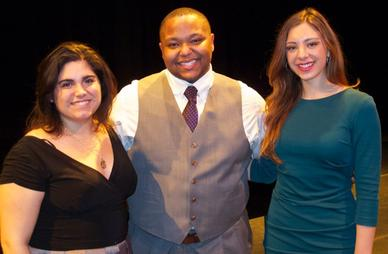 ​2015 Encouragement Award winners, left to right, soprano Ana Collado, baritone Richard Coleman, and soprano Allison Lonstein Photo Courtesy metauditionsopera.org