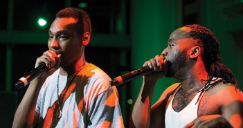 Yin Yang Twins D-Roc and Kaine perform during Friday night's concert held at the Rathskeller. Matthew Trabold // Staff Photographer
