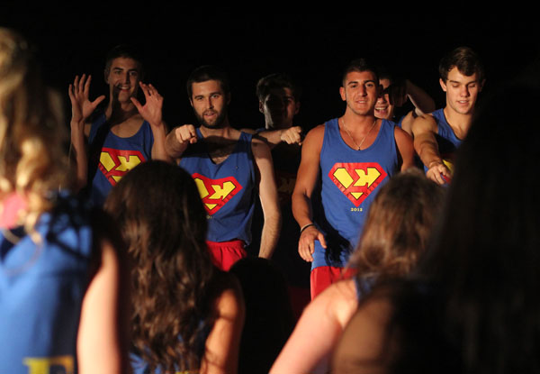 Greek Week pits teams of fraternities and sororities against each other in competitions including O-Cheer in an effort to raise money for UCP, United Cerebral Palsy. // File Photo