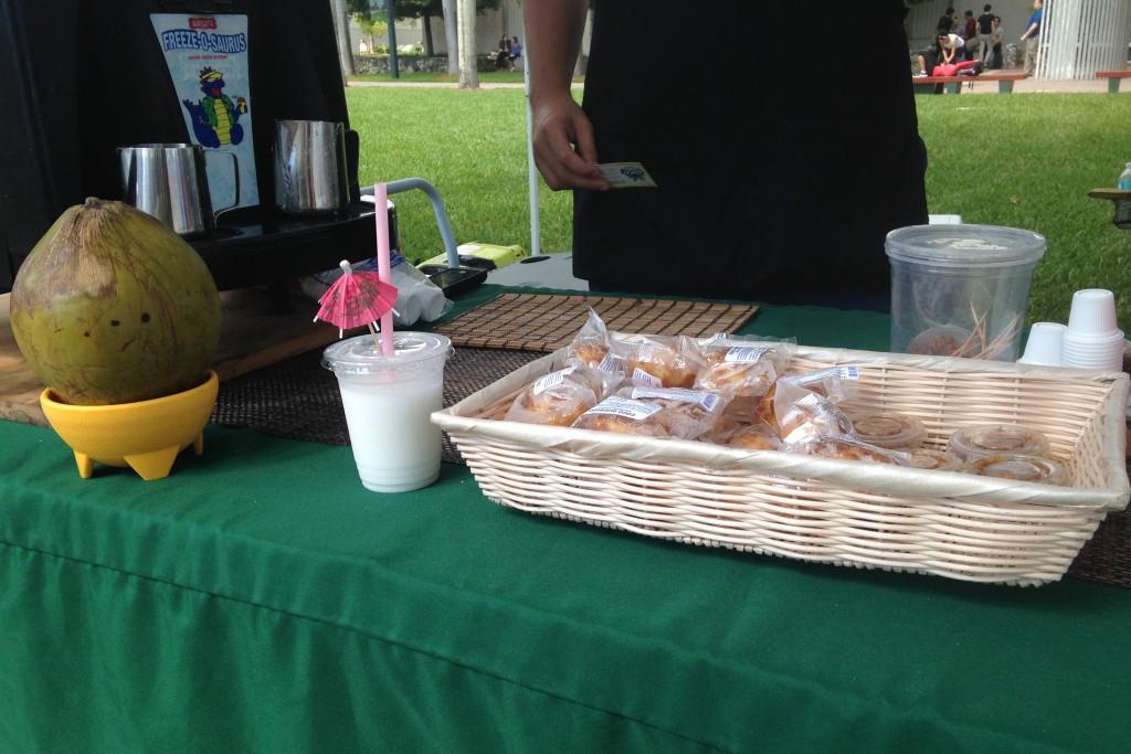 Coconut shake stand brings Venezuelan flavor to campus