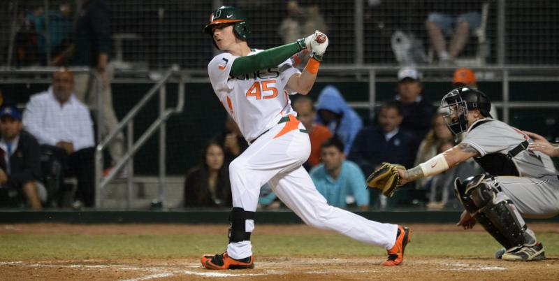 Canes baseball drops first game of season in loss to FAU