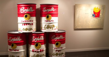 Trading Soup by Gabriel Gimenez, Acrylic on oil drum. Marwan Alenezi // Contributing Photographer