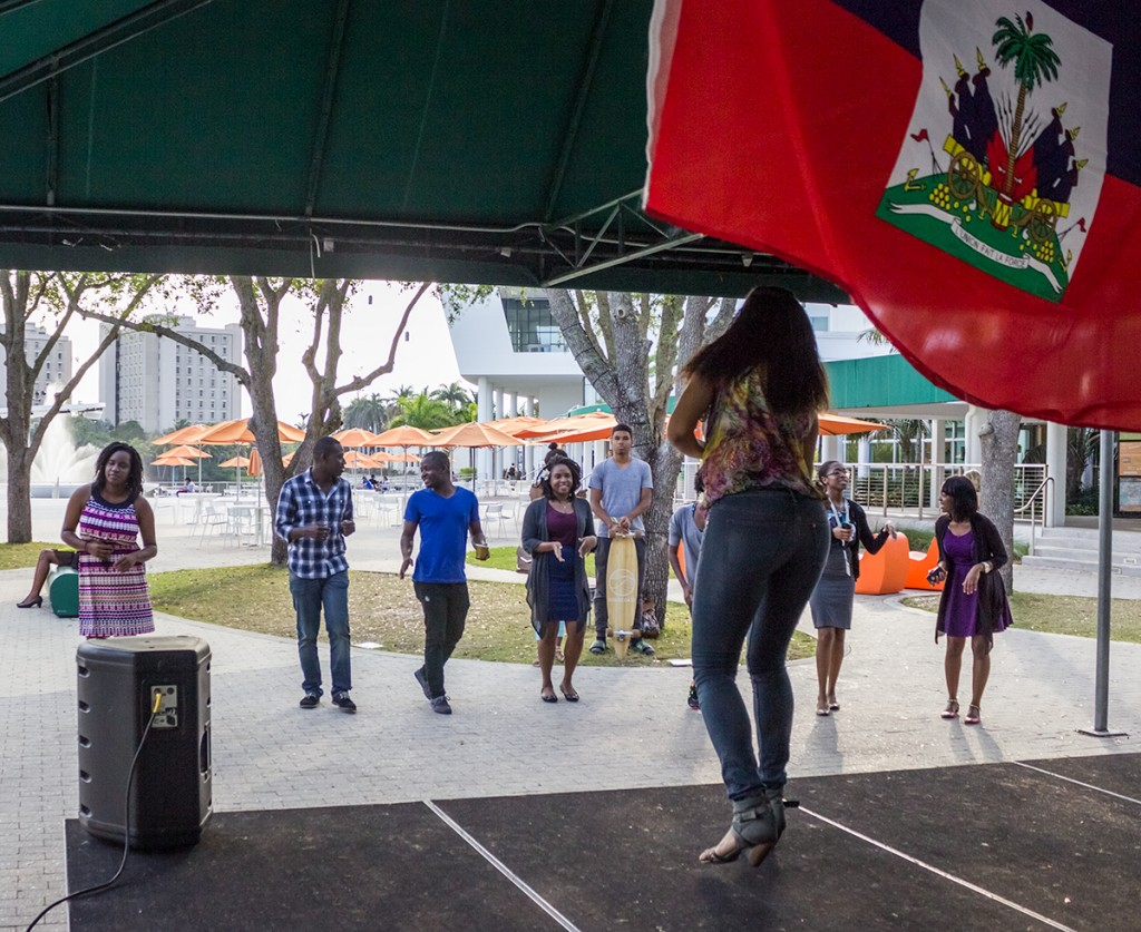 As part of Haitian Culture Week, the UMiami Planet Kreyol organization held an evening of kompa dancing on the UC Patio Wednesday. Haitian Culture Week continues Thursday with the Miss Planet Kreyol Pageant, to be held in the SAC Ballrooms at 7 P.M. Nick Gangemi // Photo Editor