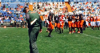 The Hurricanes' spring football game took place Saturday. Al Golden coached both offense and defense against each other in the scrimmage. Fans got the opportunity to take photos and get autographs from alumni and current players.  Lyssa Goldberg // Online Editor