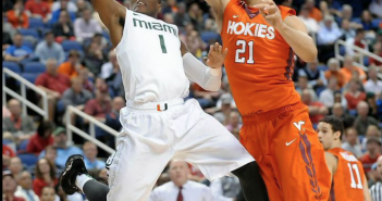 Deandre Burnett drives to the rim during the second round of the ACC Tournament // Courtesy The ACC