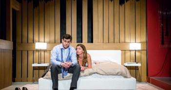 """Nicholas Richberg (Harry) and Gretchen Porro (Aleeza) in """"Trust."""" // Photo Courtesy  Justin Namon"""