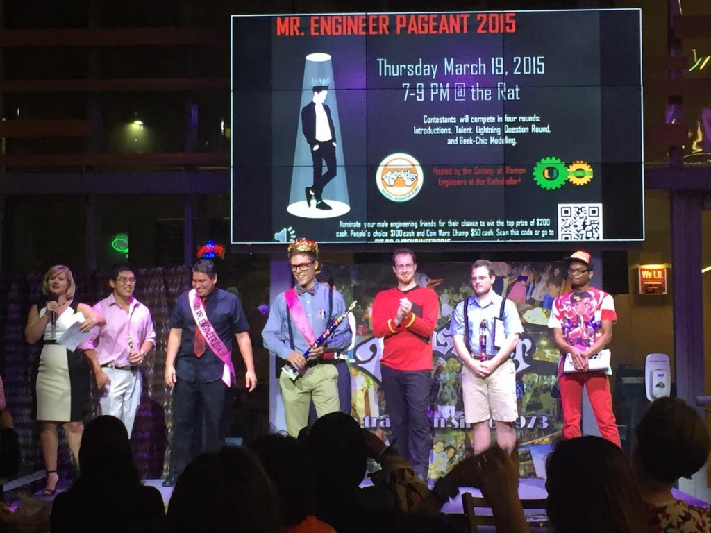 The contestants of the Mr. Engineer pageant competed in a variety of rounds to be crowned this year's winner. Justina Coronel // Contributing Photographer