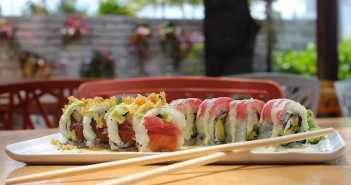 The Miami Roll (left) features tuna, salmon and tempura flakes. The SuViche Roll (right) has a mixture of crispy shrimp, avocado and tuna. Hallee Meltzer // Assistant Photo Editor