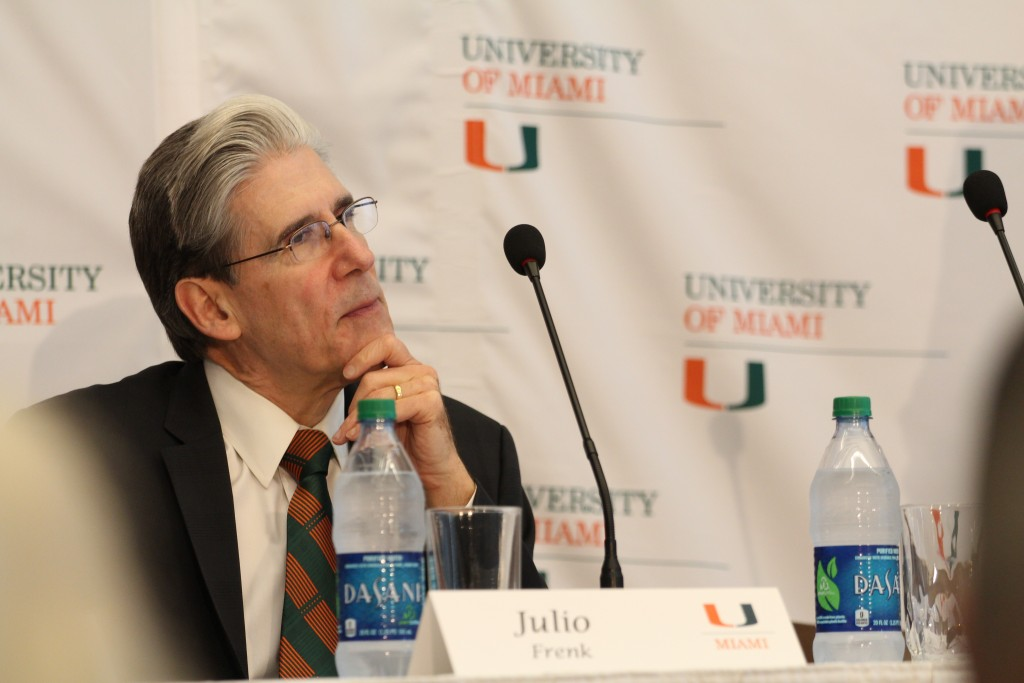 Julio Frenk at Monday's press conference. Erika Glass // Managing News Editor