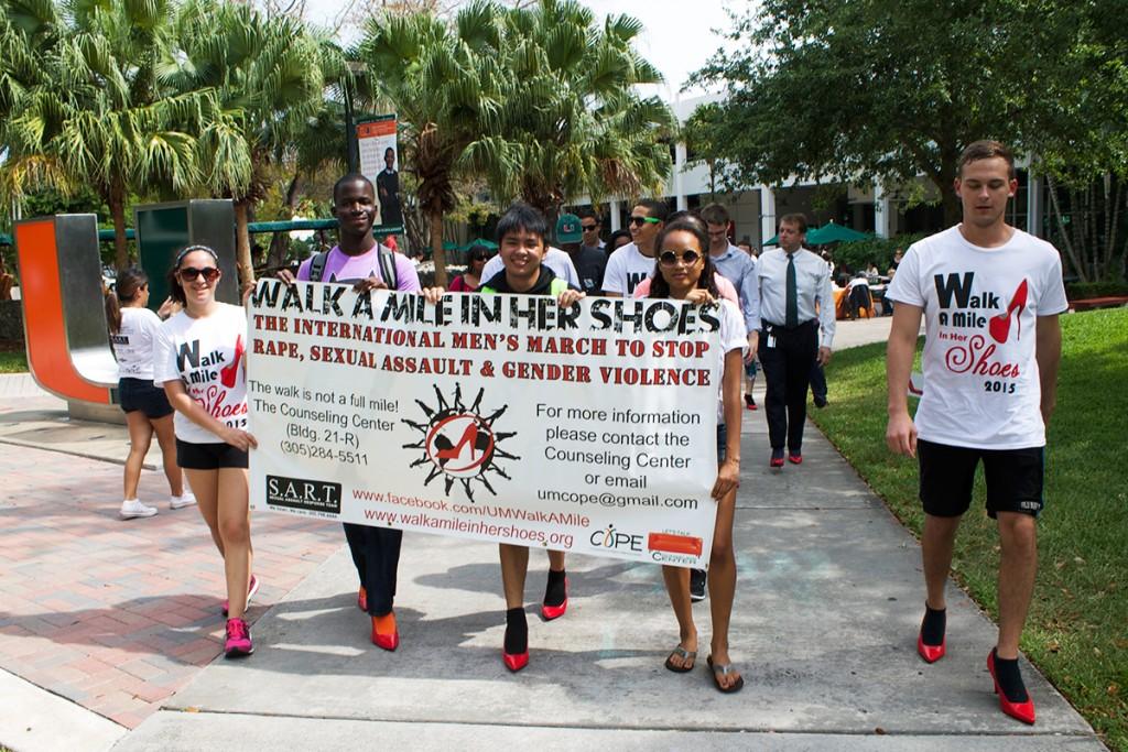 Men march in heels to raise sexual assault awareness