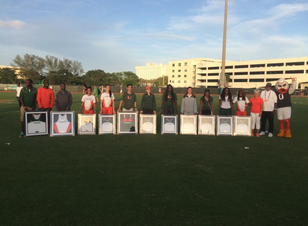 Track celebrates Senior Day in Hurricane Alumni Invitational