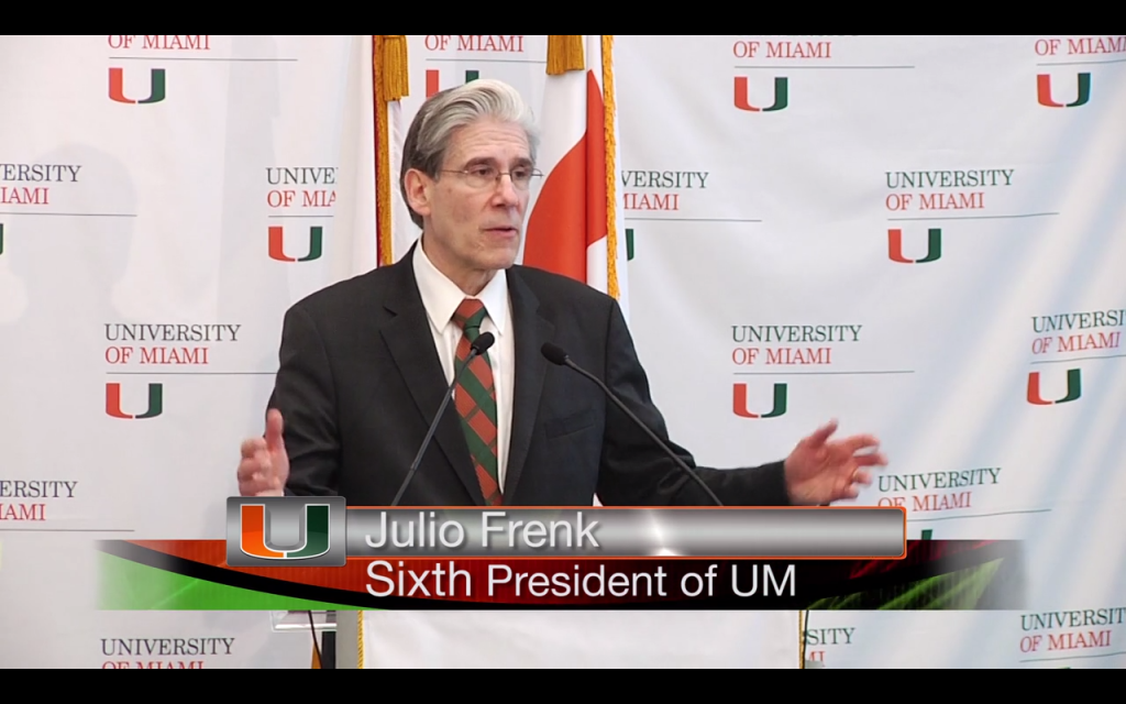 VIDEO: UM names Julio Frenk as its new president