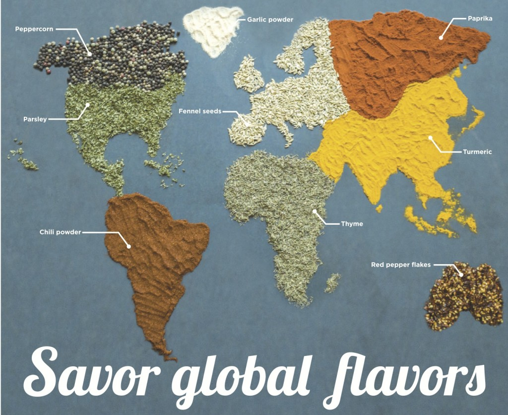 Global flavors add special spice