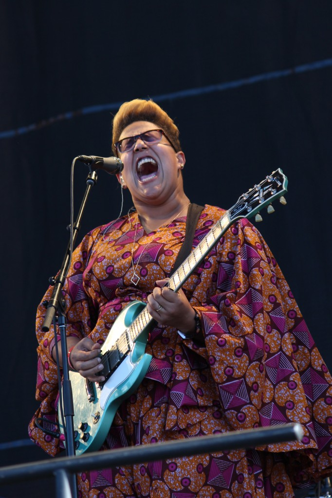 "Brittany Howard of Alabama Shakes brought the crowd to their feet with her soulful rendition of ""Hang Loose""."