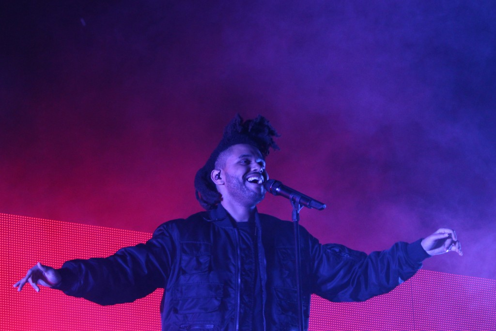 "The Weeknd, best known for his song ""Can't Feel My Face"" took to the BudLight Stage on Friday evening. Hallee Meltzer // Photo Editor"