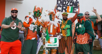Hurricane football fans gather at the Knight Sports Complex for Saturday's CanesFest in anticipation of the first game of the season next weekend. Victoria Cameron // Contributing Photographer