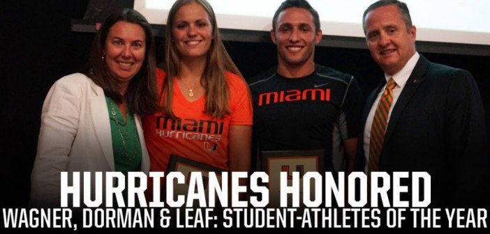 Dorman, Leaf and Wagner named 2014-15 UM Student-Athletes of the Year