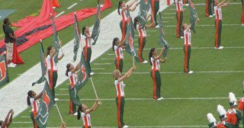 Hurricanettes Color Guard, Sept. 2013