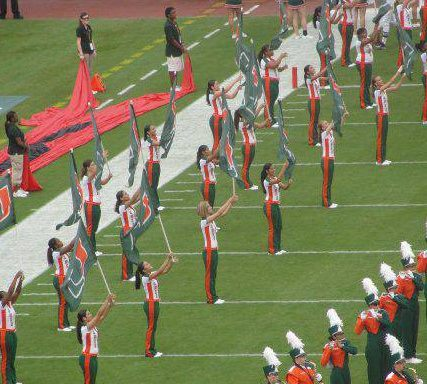 Hurricanettes color guard returns to Hurricanes home game