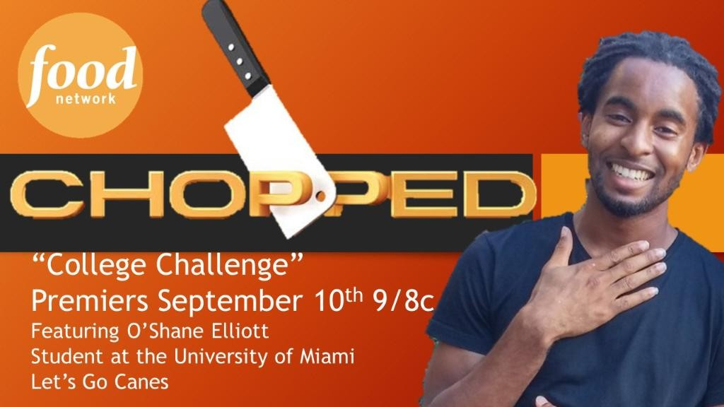 'Chopped' cooking competition features student O'Shane Elliott