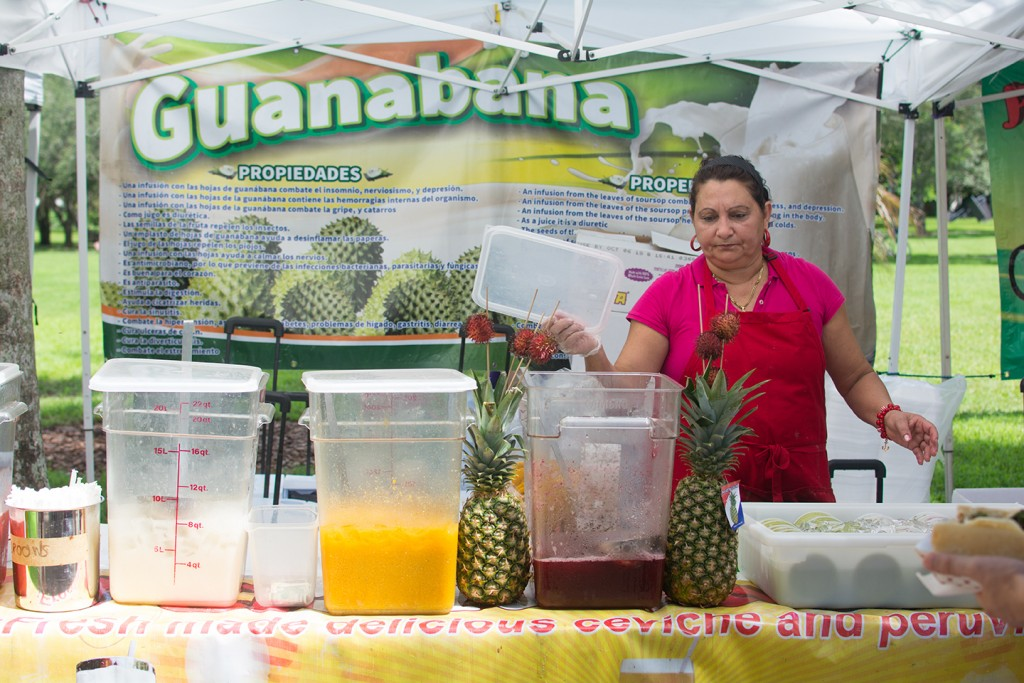 Guanabana features fresh Peruvian ceviche and fruit juices at the Well 'Canes Marketplace Wednesday afternoon. Alisha Kabir // Staff Photographer