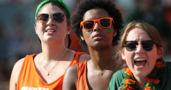 UM students watch as the Canes take on the Cornhuskers at Sun Life Stadium. Hallee Meltzer // Photo Editor