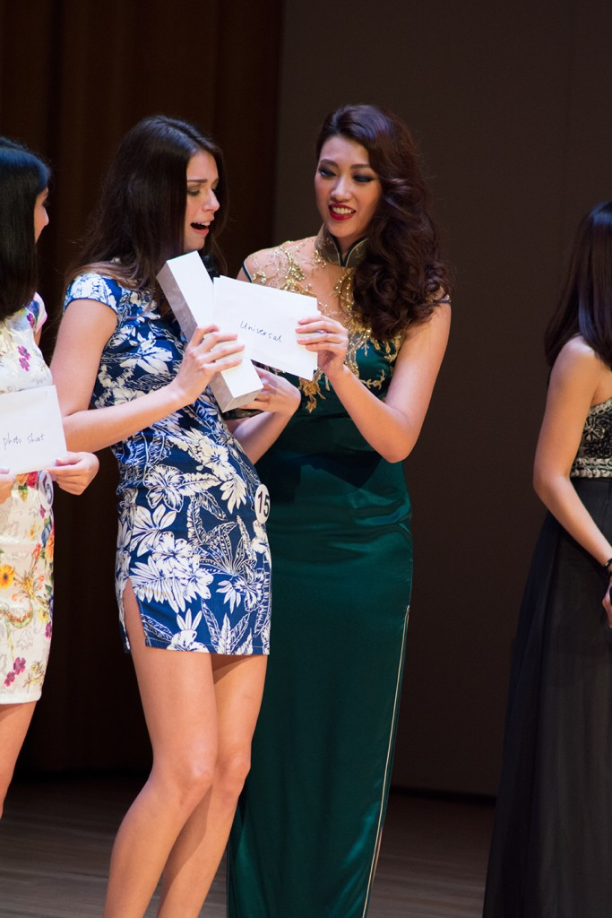 UM's Carmen Wilson receives her ticket to Orlando Universal Studios for winning Top Model. Alisha Kabir // Contributing Photographer