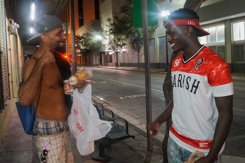Through just one swipe, activists give homeless extra dining hall takeout meals