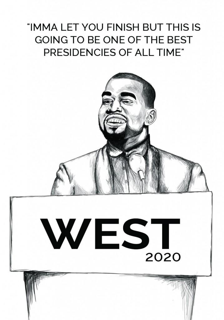 Kanye sees presidential vision in 2020