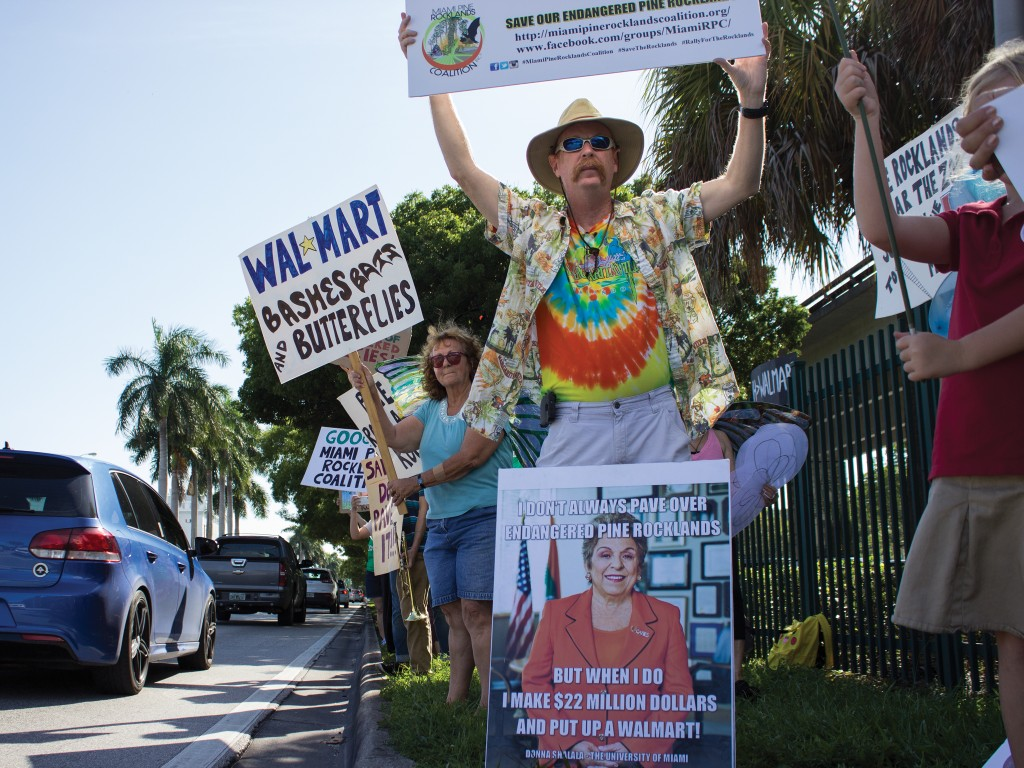 Protesters criticize treatment, sale of endangered pine rockland