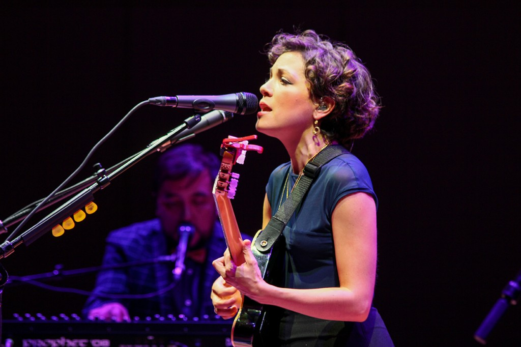 Three-time Latin Grammy winner, Natalia Lafourcade performs for Festival Miami at Gusman Concert Hall Friday. Erum Kidwai // Staff Photographer