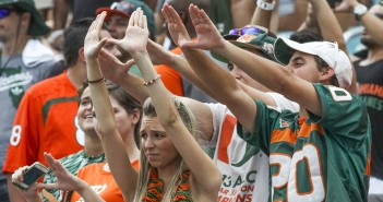 UM fans watch in agony as the Hurricanes play the Clemson Tigers during Saturday's game. Hallee Meltzer // Photo Editor