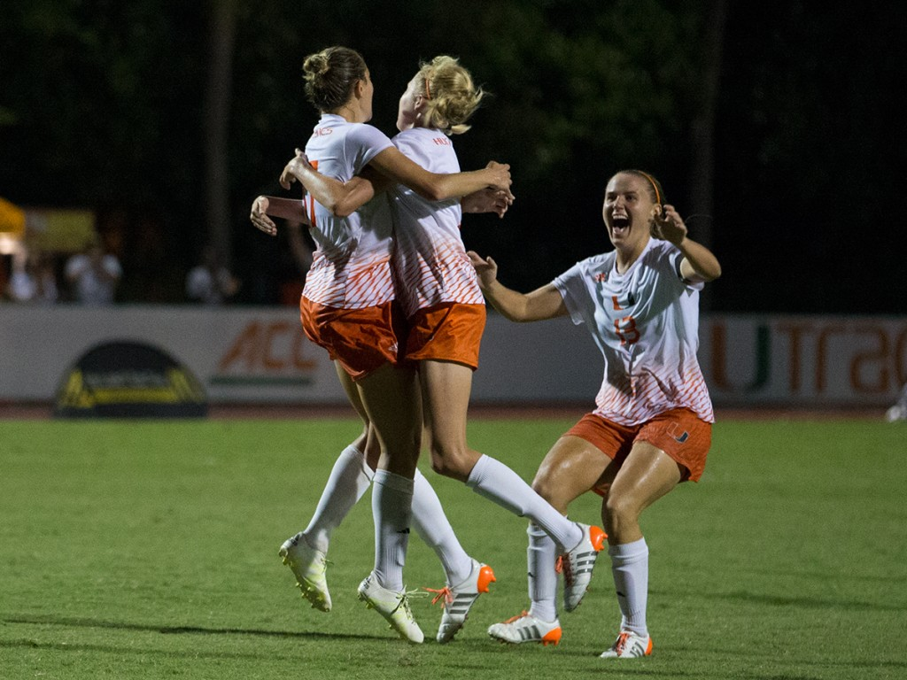 Canes soccer takes down Fighting Irish in double overtime